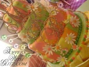 Tier Toppers  Font: Francesca (MKB) Colors: Sun, Peridot, Rose, Lt Rose