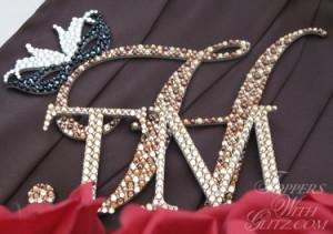 Mardi Gras cake topper