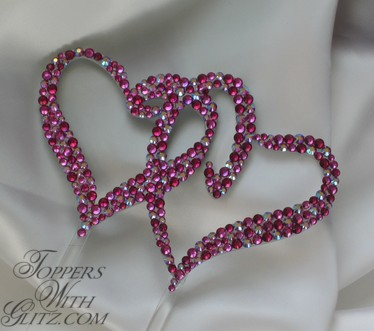 Hearts Wedding Cake Toppers