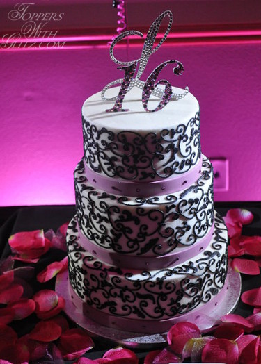 Sweet 16 Cake Topper Toppers With Glitz Blog