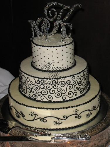 Monogram Cake Topper (w/Server Set)