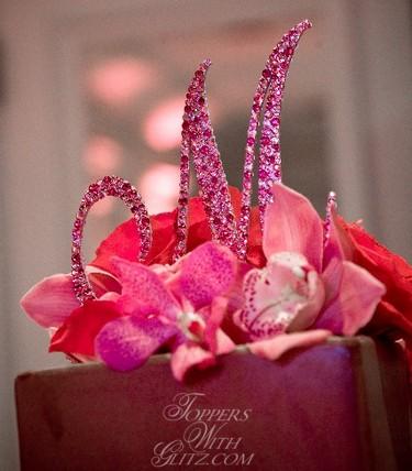 Crystal Monogram Cake Topper