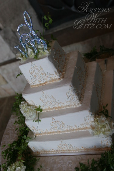 Traditional Monogram Cake Topper