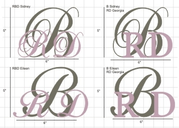 Monogram Cake Topper Example Mock