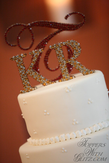 Traditional Monogram Cake Topper